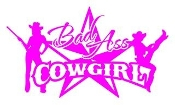 Bad Ass Cowgirl v3 Decal Sticker