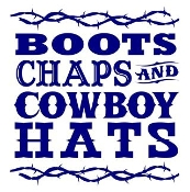Boots Chaps and Cowboy Hats Decal Sticker