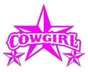 Cowgirl Star v2 Decal Sticker