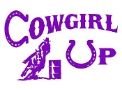Cowgirl Up Barrel Racer v2 Decal Sticker