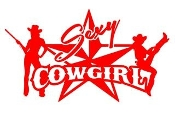 Sexy Cowgirl v2 Decal Sticker