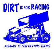 Dirt Is For Racing Sprint Car Decal Sticker