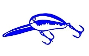 Fishing Lure v2 Decal Sticker