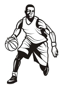 Basketball Player Decal Sticker