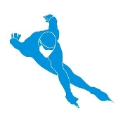 Speed Skater Silhouette v9 Decal Sticker