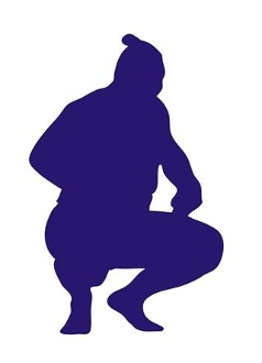 Sumo Wrestler Silhouette 3 Decal Sticker