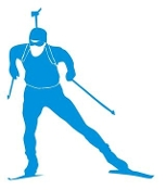 Biathlon Ski Silhouette v1 Decal Sticker