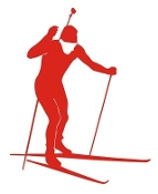 Biathlon Ski Silhouette v2 Decal Sticker