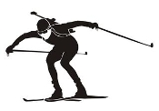 Biathlon Ski Silhouette v4 Decal Sticker