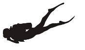 Scuba Diver Silhouette v3 Decal Sticker
