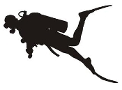 Scuba Diver Silhouette v5 Decal Sticker