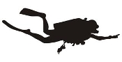 Scuba Diver Silhouette v7 Decal Sticker
