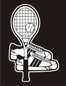 Tennis Racket and Shoes Decal Sticker