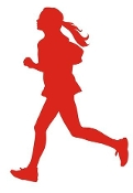 Runner Girl Silhouette v2 Decal Sticker