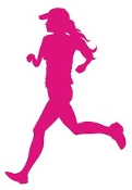 Runner Girl Silhouette Decal Sticker