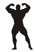 Bodybuilder Silhouette 7 Decal Sticker