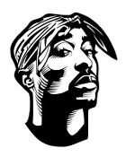 Tupac Decal Sticker