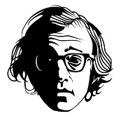 Woody Allen Decal Sticker