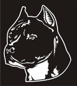 American Staffordshire Terrier Head v2 Decal Sticker
