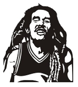 Bob Marley v2 Decal Sticker