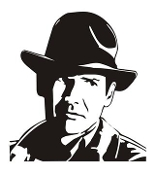 Indiana Jones v2 Decal Sticker