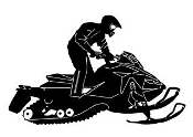 Snowmobile v8 Decal Sticker