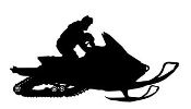 Snowmobile Silhouette v5 Decal Sticker