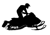 Snowmobile Silhouette v6 Decal Sticker
