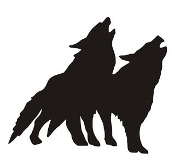Wolves Silhouette Decal Sticker