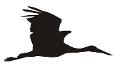 Crane Bird Silhouette Decal Sticker