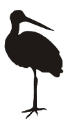 Stork Silhouette v3 Decal Sticker