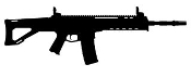 ACR Machine Gun Silhouette 2 Decal Sticker