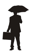 Businessman Silhouette v3 Decal Sticker