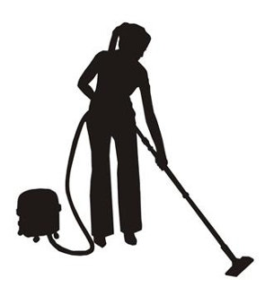 Cleaning Lady Silhouette v1 Decal Sticker