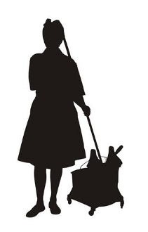 Cleaning Lady Silhouette v2 Decal Sticker