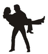 Couple Silhouette v5 Decal Sticker