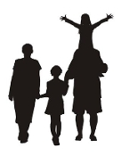 Family Silhouette v1 Decal Sticker