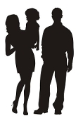 Family Silhouette v5 Decal Sticker