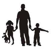 Father and Children v2 Decal Sticker