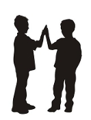 Kids Silhouette v1 Decal Sticker