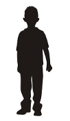Young Boy Silhouette v1 Decal Sticker