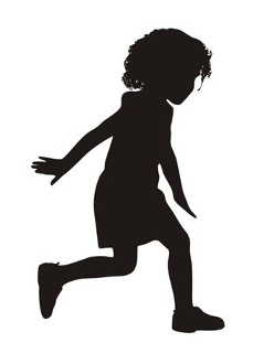 Young Girl Silhouette v1 Decal Sticker