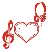 Heart and Music Design v2 Decal Sticker