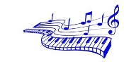 Piano Keys and Music Design Decal Sticker