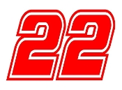 Logano 22 Decal Sticker
