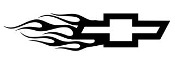 Chevy Flame Left v3 Decal Sticker