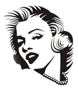 Marilyn Monroe v3 Decal Sticker