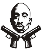 Tupac v2 Decal Sticker