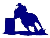 Barrel Racer Silhouette v1 Decal Sticker