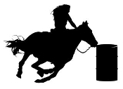 Barrel Racer Silhouette v4 Decal Sticker